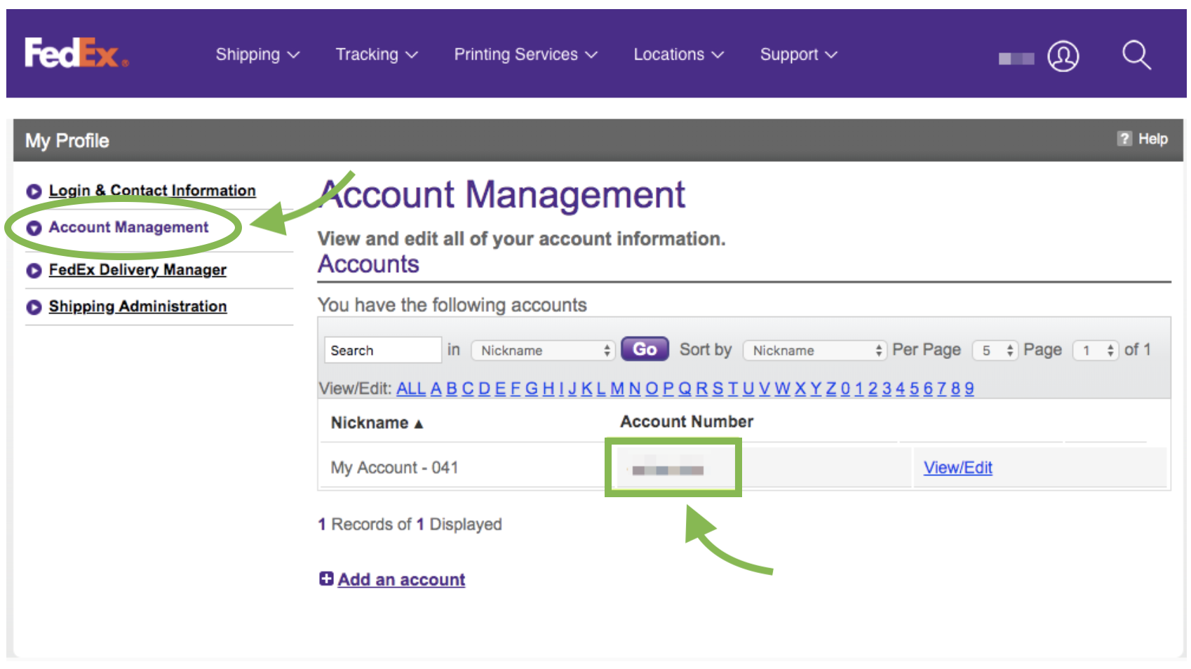 Locate Your FedEx Account Number – Shippo